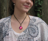 Chakra Necklace Red Energy Pendant Reiki Healing Jewelry Fuchsia
