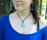 Chakra Jewelry Aura Angel Energy Healing Reiki Necklace Blue