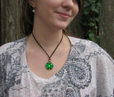 Chakra Jewelry-Green Necklace-Reiki Heart Chakra-Energy Pendant Necklace