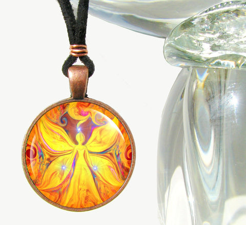 Yellow Chakra Jewelry Reiki Energy Pendant Necklace