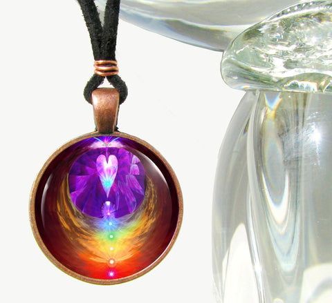 Chakra Jewelry, Psychedelic Necklace