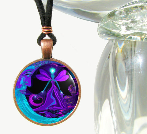 Moon Fairy Purple Jewelry Energy Art Reiki