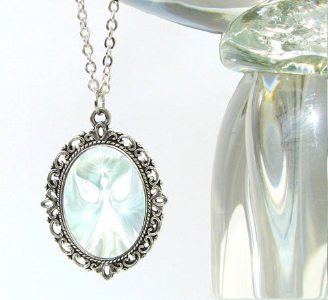 White Jewelry Angel Pendant