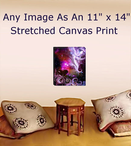 Stretched Canvas Print Reiki Wall Decor Meditation Room Energy Art 11 x 14