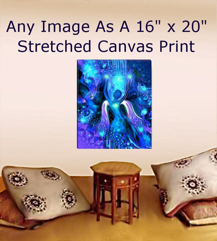 "Reiki Energy Art Large Canvas Giclee Print Yoga Meditation Wall Decor 16"" x 20"""