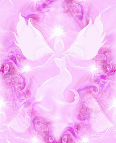 Reiki Energy Art Pink Wall Decor Healing Art