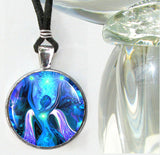 Blue Jewelry, Angel Necklace, Reiki Energy