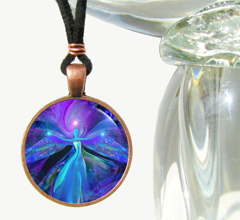 Third Eye Necklace Reiki Energy Pendant