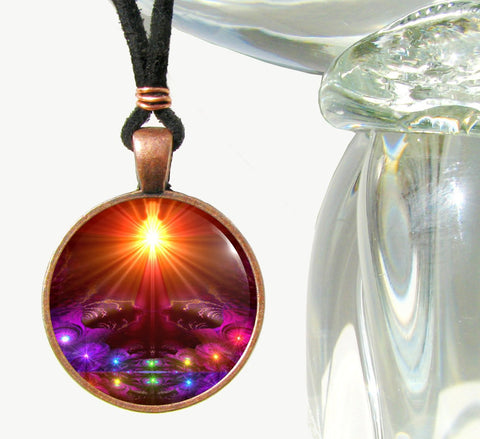 Psychedelic Necklace, Chakra Jewelry, Reiki Energy