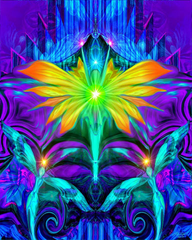 Psychedelic Angel Art Chakra Healing Reiki Wall Decor