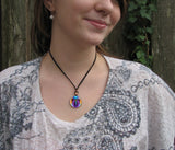 "Chakra Art, Angel Necklace, Psychedelic Jewelry, ""Embrace Light"""