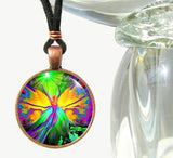 Unique Jewelry Rainbow Angel Art Pendant