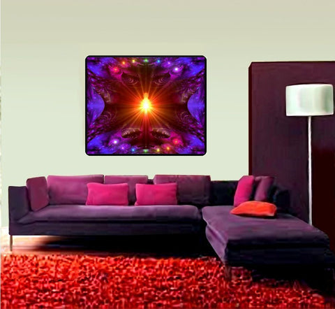 Abstract Tapestry, Wall Hanging, Chakra Art, Meditation Room Decor