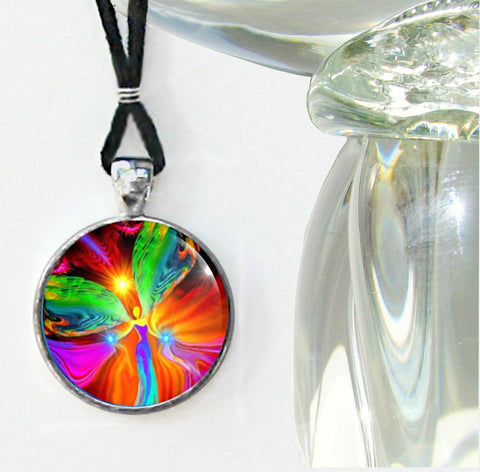 Reiki Energy Healing Pendant Necklace Chakra Jewelry Healing Hands