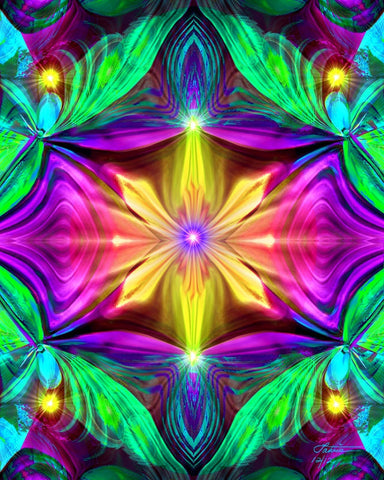 "Psychedelic Abstract Chakra Energy Art ""Resonance"""