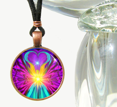 Chakra Art Angel Necklace Energy
