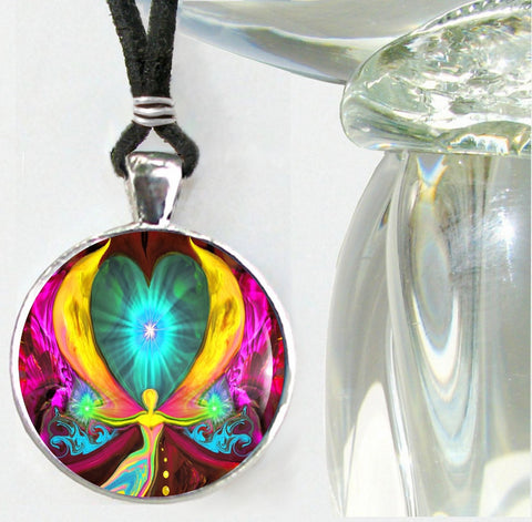 "Chakra Energy Healing Angel Pendant Necklace ""Seeds of Change"""