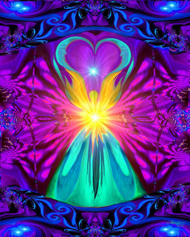 "Positive Healing Energy Chakra Wall Art ""The Beacon"""