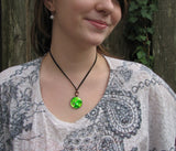"Psychedelic Hippie Reiki Angel Pendant Necklace ""Heart Healer"""
