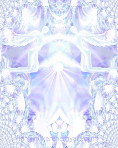 Angel Healing Energy Art Print