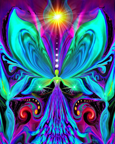 Rainbow Wall Decor, Psychedelic Angel