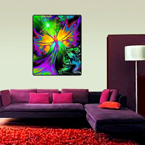 "Reiki Healing Tapestry, Energy Healing Chakra Art, ""From Dark to Light"" 40"" x 50"""