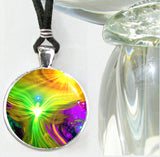 Abstract Reiki Chakra Angel Art Pendant