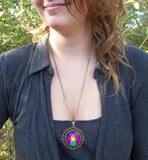 "Rainbow Necklace Angel Pendant Chakra Jewelry ""Beacon"""