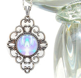 "Crown Chakra Necklace Violet Angel Pendant ""On The Wings"""