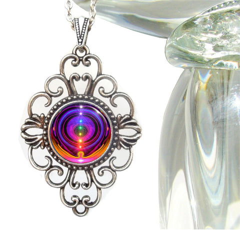 "Rainbow Chakra Necklace Reiki Energy Healing ""Chakra Alignment"""