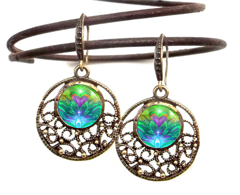 Hippe Earrings, Reiki Energy Healing