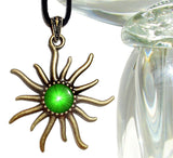 Heart Chakra, Green Jewelry, Reiki Healing, Sun Necklace