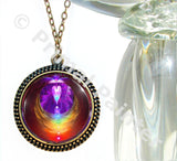 Rainbow Heart Angel Necklace Reiki Pendant Chakra Jewelry
