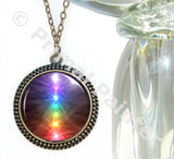 Chakra Necklace Reiki Jewelry Unique Jewelry Rainbow Art