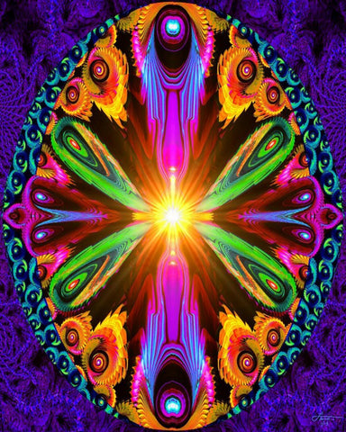pyschedelic chakra art, rainbow abstract