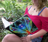 "Psychedelic Art Notebook, Reiki Healing, Chakra Sketchbook, ""Waking Life"""