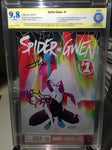 Spider-Gwen #1, CBCS 9.8 NM/Mint, Signed 3x Remark