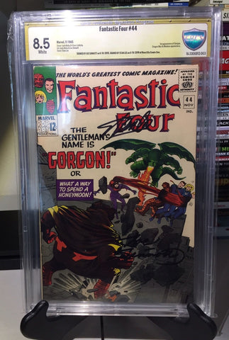 FANTASTIC FOUR #44 CBCS 8.5 VF+ 1st Gorgon Signed 2x Stan Lee
