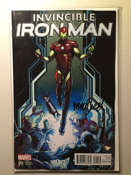 Invincible Iron Man #1 (2015) Schiti Young Guns Variant, Signed Marquez