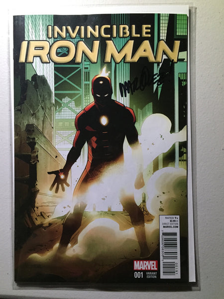 Invincible Iron Man #1 (2015) Asrar Young Guns Variant, Signed Marquez