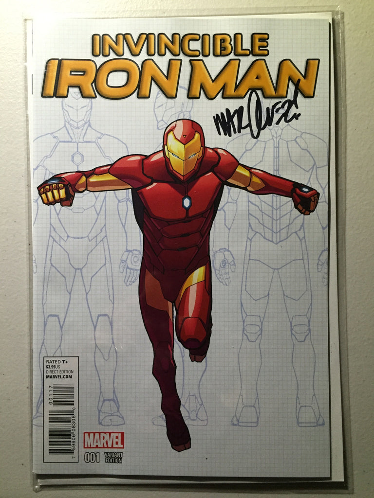 Invincible Iron Man #1 (2015) Marquez Young Guns Variant, Signed Marquez