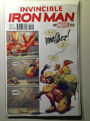 Invincible Iron Man #1 (2015) Yasmine Putri Party Variant, Signed Marquez