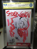 Spider-Gwen #1, CBCS 9.8, Blank Variant, Signed