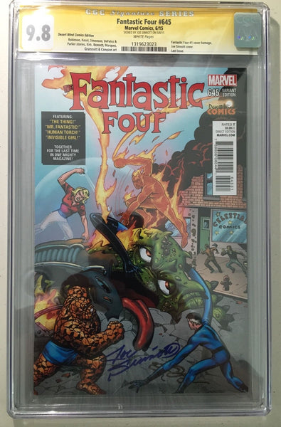 Fantastic Four #645, CGC SS 9.8 NM/Mint, Signed Sinnott