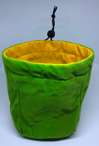 Geekbag! Large Reversible Dice Bag, Green/Yellow
