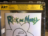 Rick and Morty #30 Blank Sketch Signed Kyle Starks