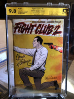 Fight Club 2 #1 9.8 NM Signed 2x Palahniuk