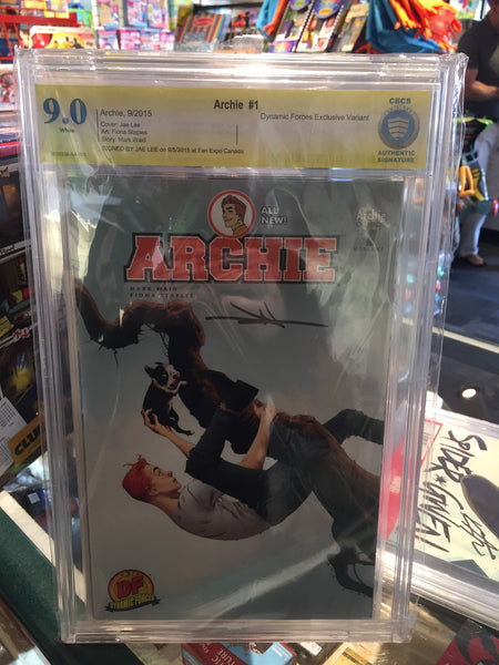 Archie #1, CBCS 9.0 NM-, Lee Variant, Signed