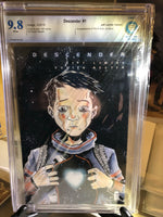 Descender #1, CBCS 9.8 NM/Mint, Lemire Variant