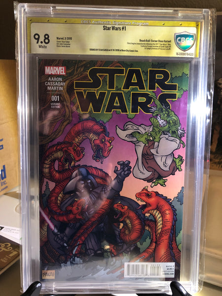 Star Wars #1, CBCS 9.8NM/Mint, Beach Ball Variant, Signed